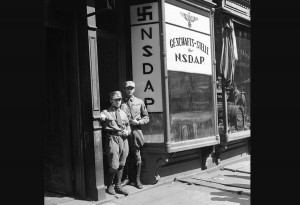 American Nazis in the Doorway of their New York Office, 1932. Believe me, they were still active in 1942